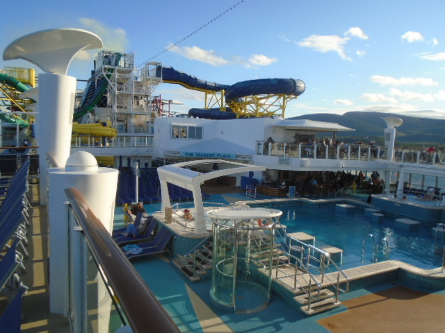 Pool deck - typical use this cruise