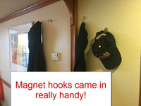 Extra-strong magnet hooks came in handy!