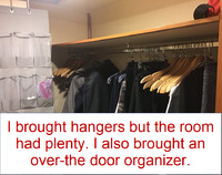 I could have left my hangers at hom e- they had plenty in this huge closet