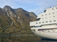 Columbus at berth in Eidfjord