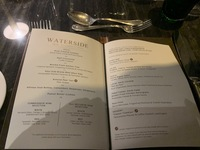 Typical dinner menu on the Crystal Ravel