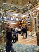 TCM Cruisers entered onto the main deck atrium and were announced. I loved
