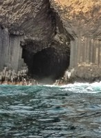 Fingals Cave. Sadly, too much swell to get in.