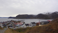 Honningsvag port : snap from the montain hiking