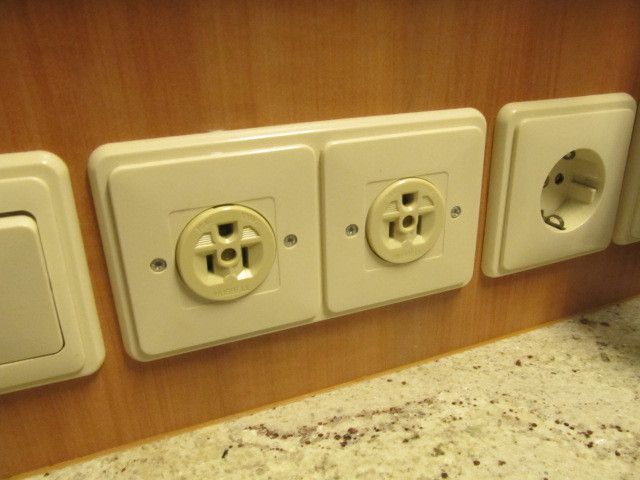 Outlets in our cabin