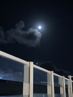 Lounging at H2o upper deck at night time while watching the moonlight.