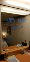 Birthday message from our room stewart