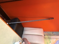 Rusty Dirty Broom Left near dining table at breakast at Deck 11, Aloha Cafe