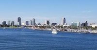 Long Beach skyline.