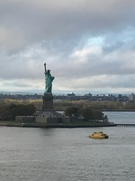 Lady Liberty on our departure.