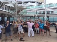 Tai Chi class on Lido Deck very popular but discontinued when teacher had t