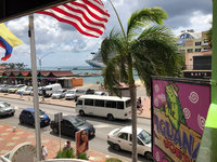 Aruba from our seat at our favourite lunch spot, Iguana Joe's ... best