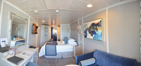 Picture of cabin 6004 looking from window to entry.