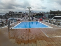 The pool on the sundeck