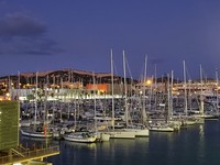 Evening in Catagena, photo of the Harbor.