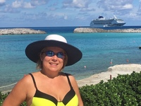Me in the Stirrup Cay with Norwegian Sky in the background.