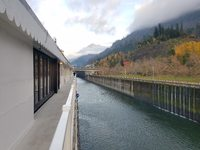 Entering the lock at Bonneville.