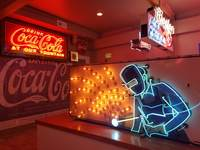 Entrance to the National Neon Sign Museum is included in the cruise, and it