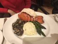 Lobster Tail is an up charge in main dining room but was excellent!