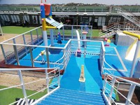 Just boarded the ship 23/11/ The kids water park which later after speaking