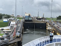 Entering the Gatun Lock