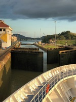 Opening of the lock gate