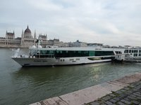 The ship docked in Budapest
