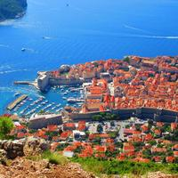 View of  Dubrovnik from Srd hill top