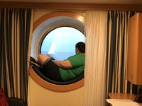 Thats me sitting in the porthole.