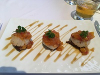 Seared Scallops for appetizer at Bayamo Specialty Restaurant...these were D