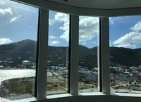 Nice view onto British Virgent Island Tortola from the Spa.