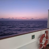 Sunset over the coral sea. Amazing!