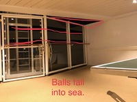 Ping pong balls keep on shooting into the sea! Really too bad.