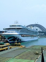 This is the cruise I was taking for the holiday. It has come into the Sydne