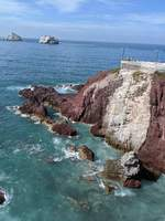 Cliff diving spot in Mazatlan