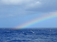 Rainbow from deck of Star Flyer, middle of the Atlantic.