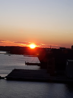 Sunset at the Port of Baltimore
