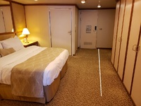 ADA mini-suite bedroom area.  The white line shows approximately where the