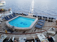 The adults-only terrace pool at the stern of Decks 14/15.