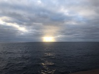 Sun rise on our first day at sea.