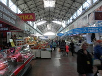 A food market at Saratov