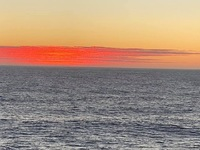 Sunset - on the Pacific ocean - Chile, South America