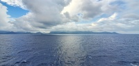 View of Nahaa, French Polynesia from the ship as we arrived in Raiatea