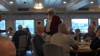 Santa Claus visits the dining room