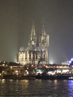 The Cologne Cathedral as seen from our ship