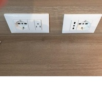 Two total power outlets for 110 and two for foreign power. The other 110 is