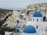 Santorini - a rare phot WITHOUT the masses of tourists