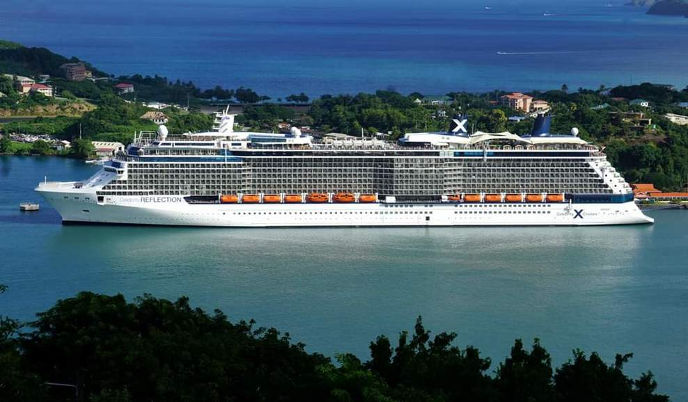 Picture of the ship in St. Lucia