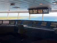 Picture from the bridge observation room.
