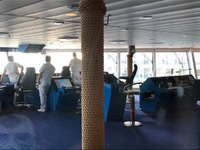 Bridge observation room - very cool watching us depart a port!